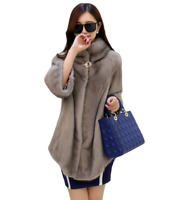 Mink Fur Womens Coat Warm Casual Winter Snow Thick Long Jacket Parka Outwear SZ