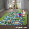 Children's Road Map Kids Play Mat Race Car Rug Runner Nursery Home 130x160cm UK