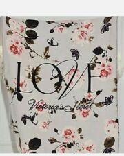 💕New Victoria's Secret Love Floral Sherpa Blanket Plush Cozy Throw Blanket 2020