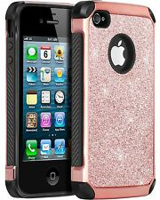 iPhone 4 Case iPhone 4S Case BENTOBEN Slim 2 In 1 Hybrid Luxury Glitter Spark...