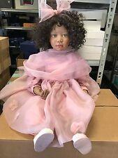 Christine Orange Porzellan Puppe 78 cm. Top Zustand.