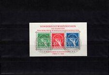 Berlin 1949, Block Nr. 1 mit Ersttagssonderstempel 17.12.49 - 19, Fotoattest
