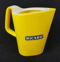 "New! RICARD Plastic Pitcher Design by Robert Stadler 7"" French Barware Pastis"
