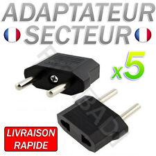 LOT DE 5 ADAPTATEUR SECTEUR US VERS PRISE EU FRANCE EUROPE VOYAGE USB EUROPE FR