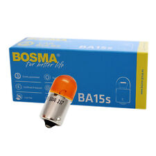 10 x Lampe Birne Bosma BA15s 12V 10W Orange Premium für Blinklicht etc.
