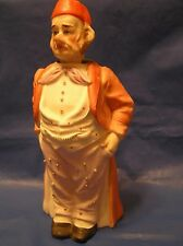 3pt8 ANTIQUE PORCELAIN BISQUE FIGURE NODDER BOBBLE HEAD NODS VICTORIAN GENTLEMAN