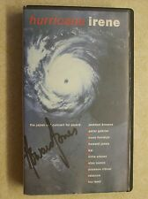 Peter Gabriel/Howard Jones Signed 'Hurricane Irene' 1986 Concert VHS Video