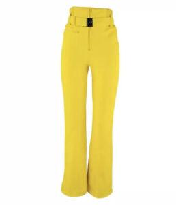 CL1# Henri Duvillard Womens GRIDIN FUS M Yellow Ski Pants Uk 12 Regular