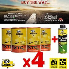 OLIO MOTORE XTC C60 15W-50 4 LITRI 324040 BARDAHL + FUEL INJ CLEANER BENZINA