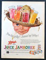 1958 Libby's Juice Jamboree vintage print Ad orange tropical lemonade grapefruit