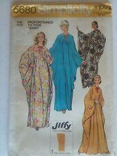 Vintage 1973~Caftan~ Jiffy~One Size~Uncut~Sewing Pattern~Women~Simplicity #5680