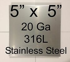 "HHO Parts 9 pcs 316L Stainless Steel Plates 5"" x 5"" 20 Ga for HHO Dry/Wet cell"