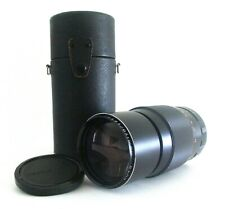 MAMIYA SEKOR AUTO F3.5 200mm TELEPHOTO LENS M42 MOUNT with CAPS & CASE