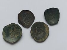 More details for lot of 4 unofficial ancient byzantine billon coins. latin empire xiii century ad
