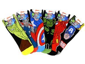 Neuf 3 Paires Hommes Marvel Superhéros Bd Personnages Cadeau Chaussettes Origine