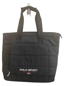 Men's Black Ralph Lauren Polo Sport Flag Tote