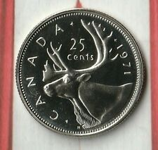 1971 Proof Like Canada 25 Cents (Quarter) from a Royal Canadian Mint Set