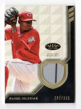 RAISEL IGLESIAS MLB 2018 TOPPS TIER ONE LEGEND RELICS (CINCINNATE REDS) #/335