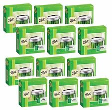 12 Boxes of 12 BALL Wide Mouth Dome Lids For Mason Jars Canning Preserving 42000
