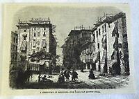 1882 magazine engraving ~ PLAZA SAN AGUSTIN BELLA, BARCELONA Spain