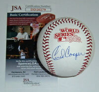 BREWERS Cecil Cooper signed 1982 World Series baseball JSA COA AUTO Autographed