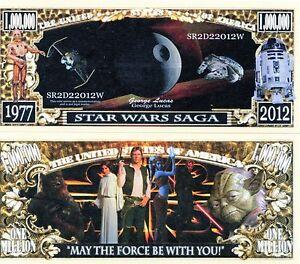 Star Wars Saga Million Dollar Novelty Money