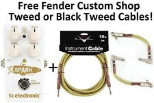 New TC Electronic Spark Booster Boost Guitar Effects Pedal! Fender Cables!