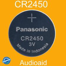 2PC PANASONIC CR2450 Lithium Batteries 3V - GENUINE