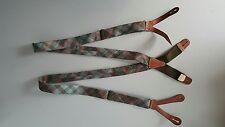 Ralph Lauren DOUBLE RRL FABRIC/ LEATHER TRIMMED Suspenders / Braces  OLIVE