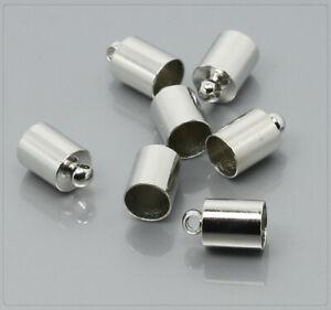 2pcs Spalte Magnetverschluss Schnur Endkappe Armband Halskette Schmuck 8mm