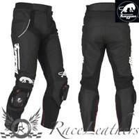 Furygan Raptor Noir Cuir Blanc Moto Moto Sports pour Pantalon Moto