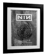 More details for nine inch nails+down spiral+poster+ad+rare original 1995+framed+fast global ship