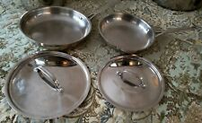 Cuisinart® Chef's Classic Stainless Steel Cookware 2 Frying Pans Skillets & Lids