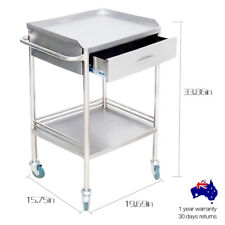 Two Layers Dental Clinic/Beauty Medical Lab Cart Trolley With Upper Drawer BMG