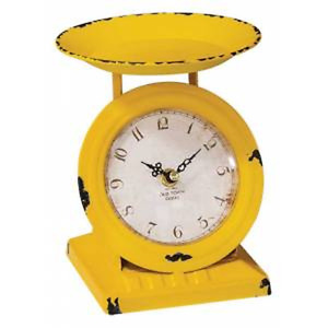 Sunflower Small Scale Clock in distressed metal
