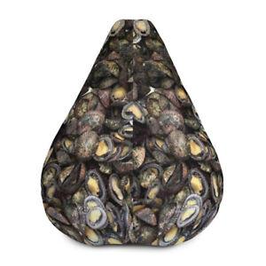 Opihi Bean Bag Chair, Bean Bag, Ocean shell Fish, Sea Shell, Chair, Funny Gift