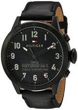 Tommy Hilfiger Smart Watch Resin and Leather , Black  1791301