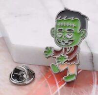 """Cute Frankenstein Monster Halloween Enamel Pin Badge Brooch 1"""" US Seller"""