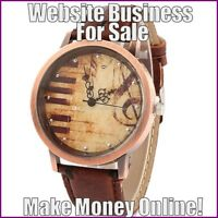 FASHION WATCHES Website Earn $76.51 A SALE FREE Domain FREE Hosting FREE Traffic