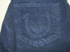 b569779d9 TRUE RELIGION HALLE WOMENS SUPER SKINNY DARK BLUE CORDUROY PANTS SIZE 26 NEW