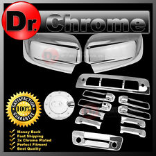 Chrome Mirror+4 Door Handle+Tailgate+Gas+3rd Brake Cover for 09-17 Dodge RAM