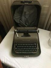 Vintage Remington Quiet-Riter Typewriter Green Keys Miracle Tab + Case