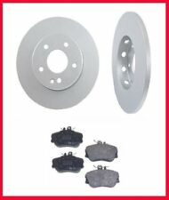 97-1998 Mercedes C230 From Vin A545906 F647651 Solid Front Brake Rotors & Pads