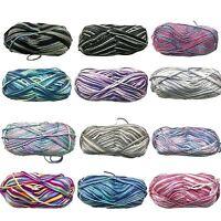 5x100g  Knitting Yarn Super Soft 8 Ply Knitting Wool 100% Acrylic Multi Colours