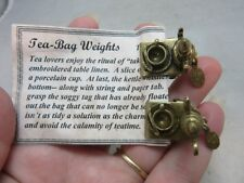 Two Htf, unique Shelley Cooper Sweet Romance tea bag clips, weights