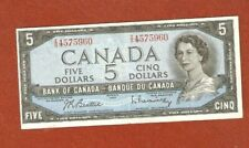 1954 Five Dollar Bank Note The Note has a couple of folds Nice Bank Note E754