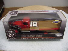 DCP 1/16 HIGHWAY 61 1941 RED CHEVROLET FLATBED TRUCK