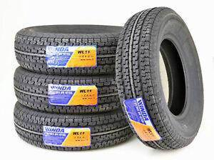 (4) Premium WINDA Trailer Tires ST205/75R15 8PR Load Range D Steel Belted