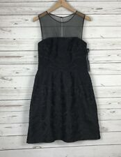 Vera Wang Size 10 Strapless Lace Dress Designer Sheath Embroidered Cocktail