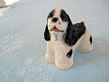 1992 UDC Stone Critters Black & White Crocker Spanial Dog Andre SCB 099